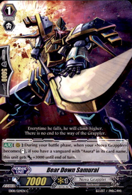 Cardfight Vanguard Champions of the Cosmos Common Bear Down Samurai EB08/024