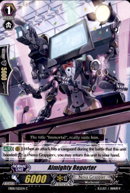 Cardfight Vanguard Champions of the Cosmos Common Almighty Reporter EB08/025