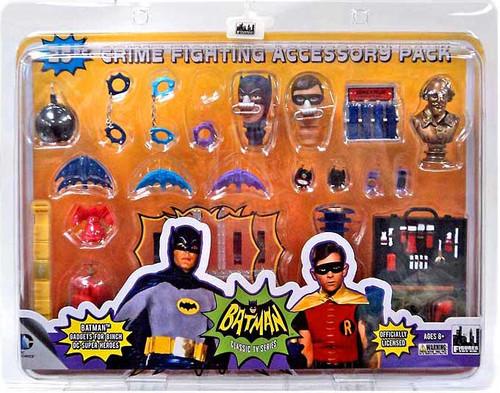 Batman 1966 TV Series 25 Piece Crime Fighting Accessory Pack Action Figure Set
