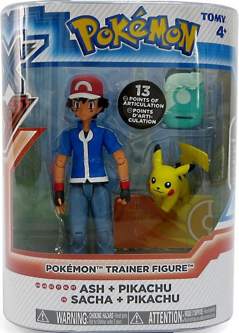 Pokemon XY Trainers Ash & Pikachu Action Figure 2-Pack
