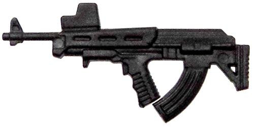 GI Joe Loose Weapons Bullpup AK Rifle Action Figure Accessory [Black Loose]