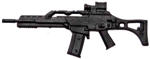 GI Joe Loose Weapons G36C Rifle Action Figure Accessory [Black Loose]