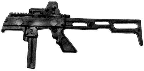 GI Joe Loose Weapons CZ Scorpion SMG Action Figure Accessory [Black Loose]