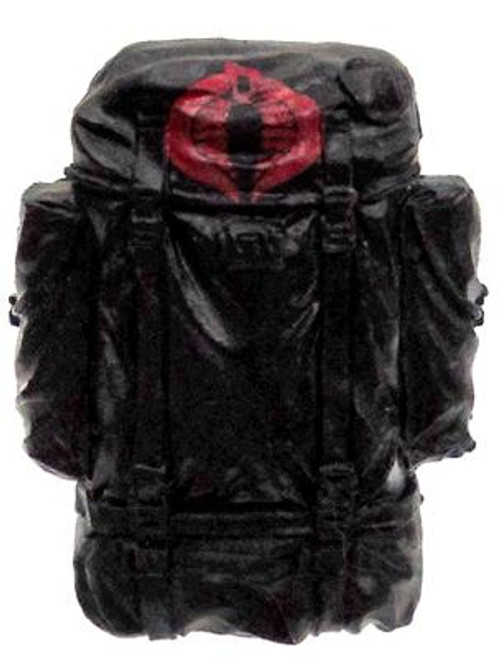 GI Joe Loose Cobra Backpack Action Figure Accessory [Black & Red Loose]