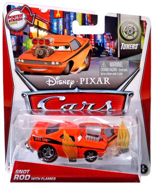 Disney Cars Mainline Snot Rod with Flames Diecast Car #3 of 8