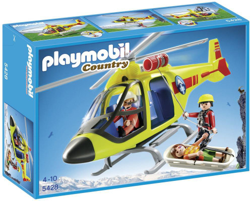 Playmobil Country Mountain Rescue Helicopter Set #5428