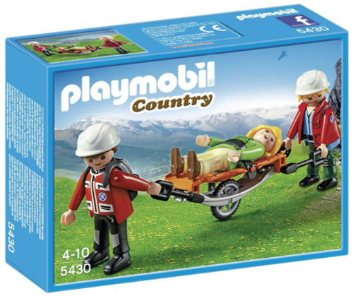 Playmobil Country Mountain Rescuers & Stretcher Set #5430