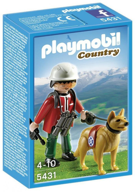 Playmobil Country Mountain Rescuer & Search Dog Set #5431
