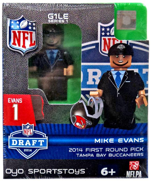 Tampa Bay Buccaneers NFL Football 2014 Draft First Round Picks Mike Evans Minifigure