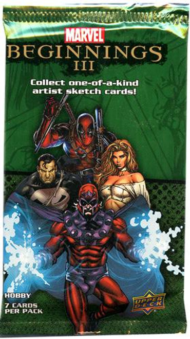 Marvel Beginnings Series 3 Marvel Beginnings III Trading Card Pack