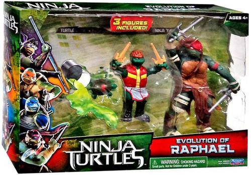 Teenage Mutant Ninja Turtles 2014 Movie Evolution of Raphael Action Figure 2-Pack
