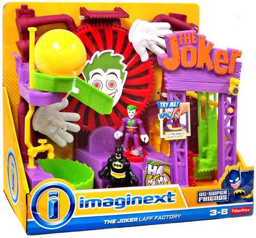 Fisher Price DC Super Friends Batman Imaginext The Joker Laff Factory Playset