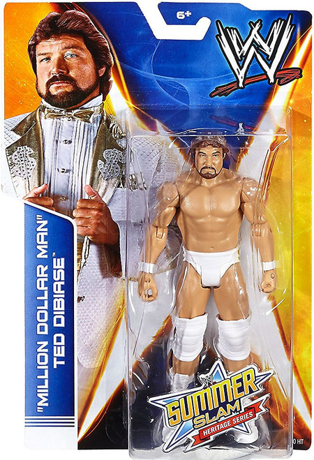 "WWE Wrestling Summer Slam Heritage Series ""Million Dollar Man"" Ted Dibiase Action Figure"