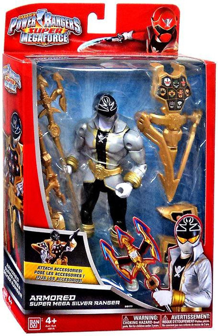 Power Rangers Super Megaforce Armored Super Mega Silver Ranger Action Figure