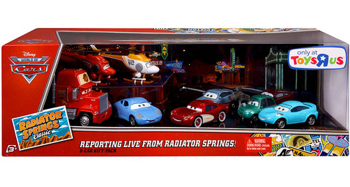 Disney Cars The World of Cars Radiator Springs Classic Reporting Live From Radiator Springs! Exclusive Diecast Car 9-Pack