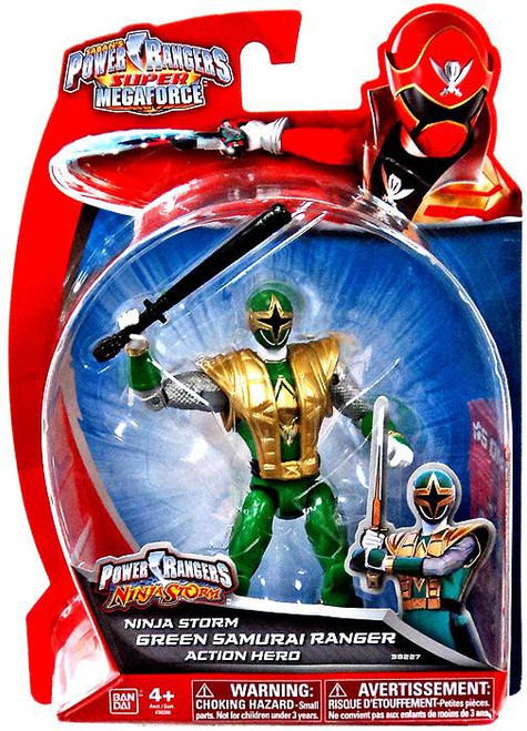 Power Rangers Super Megaforce Green Samurai Ranger Action Figure [Ninja Storm]