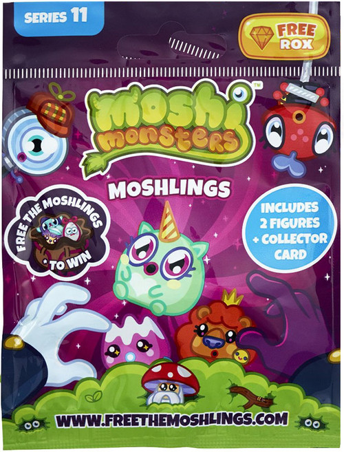 Moshi Monsters Free the Moshlings Series 11 Mini Figure 2-Pack