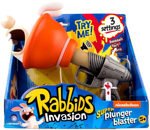 Raving Rabbids Super Plunger Blaster Roleplay Toy