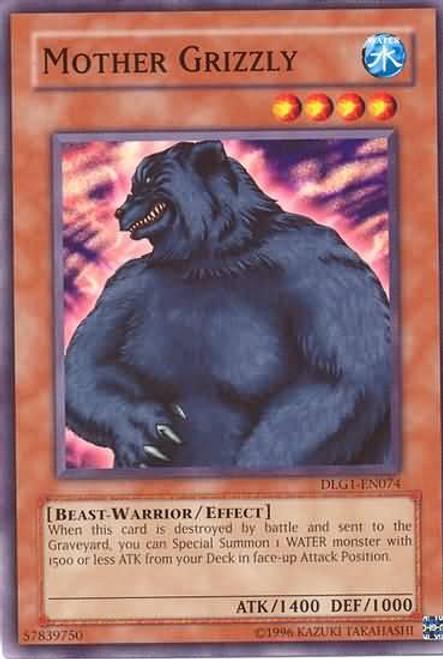 YuGiOh Dark Legends Common Mother Grizzly DLG1-EN074
