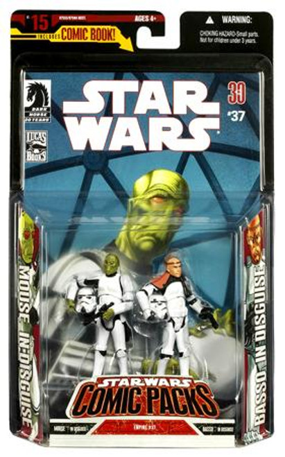 Star Wars Expanded Universe Comic Packs 2007 Mouse & Basso Action Figure 2-Pack [Stormtrooper Disguise]