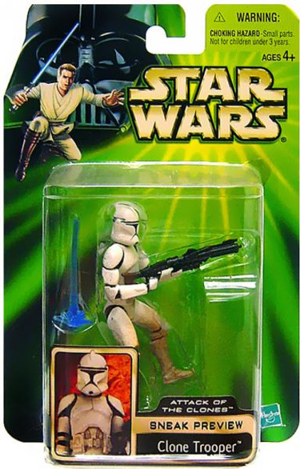 Star Wars Attack of the Clones Power of the Jedi 2002 Sneak Preview Clone Trooper Action Figure