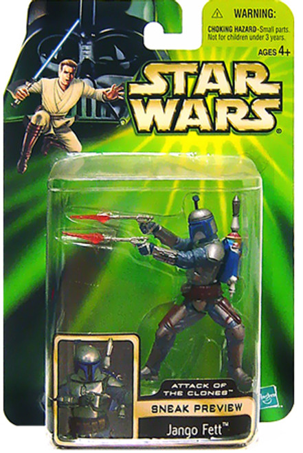 Star Wars Attack of the Clones Power of the Jedi 2002 Sneak Preview Jango Fett Action Figure
