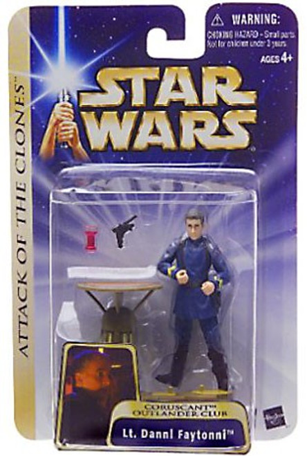 Star Wars Attack of the Clones Basic 2004 Lt. Dannl Faytonni Action Figure #29 [Coruscant Outlander Club]