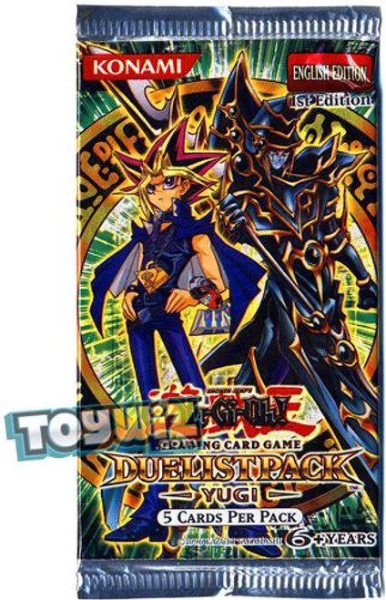 YuGiOh Duelist Pack: Yugi (1st Edition) Booster Pack [Sealed]