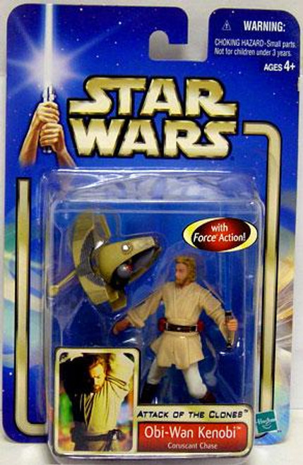Star Wars Attack of the Clones Basic 2002 Collection 2 Obi-Wan Kenobi Action Figure #03 [Coruscant Chase]