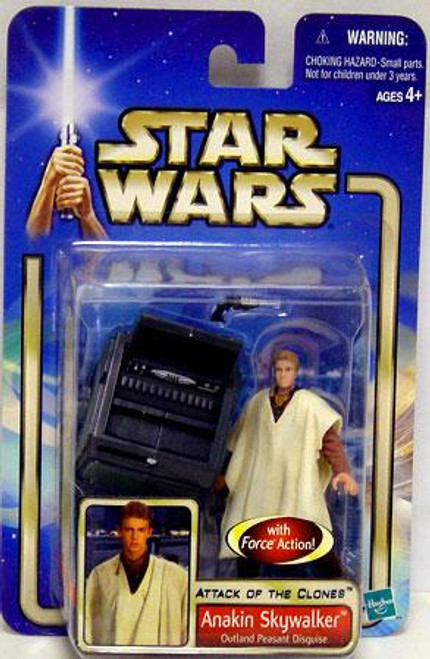 Star Wars Attack of the Clones Basic 2002 Collection 2 Anakin Skywalker Action Figure #01 [Outland Peasant Disguise]