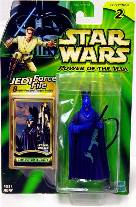 Star Wars Attack of the Clones Power of the Jedi 2002 Collection 2 Coruscant Guard Action Figure