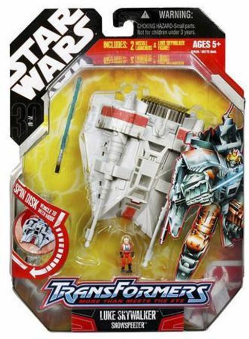 Star Wars The Empire Strikes Back Transformers 2007 Luke Skywalker to Snowspeeder Action Figure