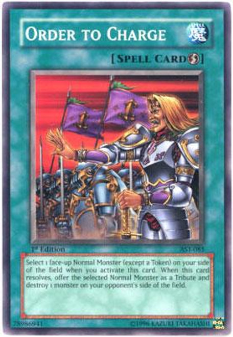 YuGiOh Ancient Sanctuary Common Order To Charge AST-085