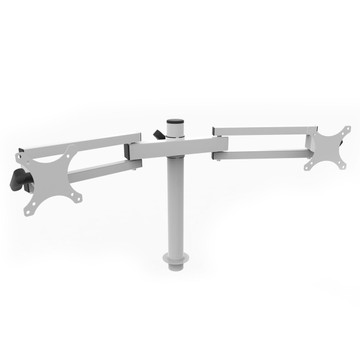 White Dual Spider Arm  Monitor Mount