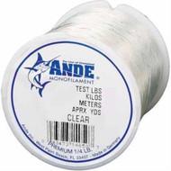 Ande Preminum Mono Clear 1/4 spool 125lb DWO