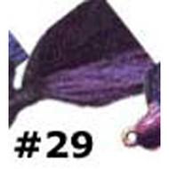 Arkie 1/4 Bucktail 6/cd Black/Purple DWO