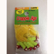 Eagle Claw Laker Maribou Jig 1/8 10ct Red/Chartreuse/Yellow DWO