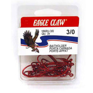 Eagle Claw Red Baitholder 20ct Size 1