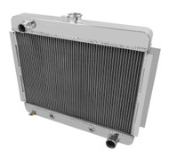 1966 1967 Chevy Nova V8 ENG All Aluminum 3 Row Radiator