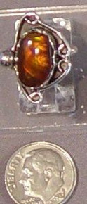Sterling Silver 5.64 carat Fire Agate Gemstone Ring size 5 New Jewelry