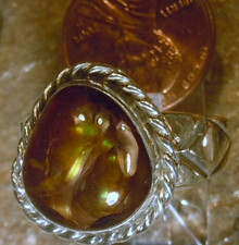 New Mens Sterling Silver Jewelry 7.92 cts Fire Agate Gemstone Ring siz 11 1/2