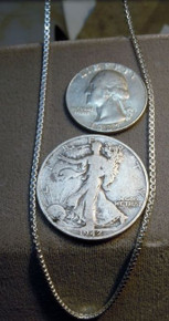 """New Jewelry Solid Sterling Silver Box Chain 24"""" from Italy approx. 1.85 MM"""
