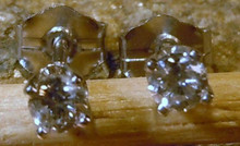 New Jewelry 14 KT Gold .15ct  Diamond Gemstone Earrings