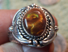 New Mens Fire Agate Sterling Silver Ring by Navajo P Yazzie Size 11