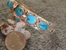 Turquoise Sterling Silver Snake Bracelet Zuni Jude Candelaria  Calavaza