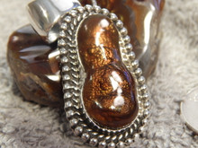 New Fire Agate Sterling Silver Pendant By Navajo  Geraldine James