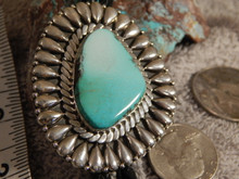 Bisbee Blue Turquoise Sterling Silver Bolo Tie By Navajo Geraldine James New