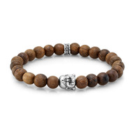 8mm Natural Wood Buddha Bead Bracelet