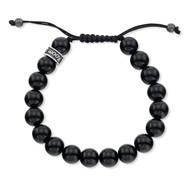 Polished Agate Shamballa Bead Bracelet