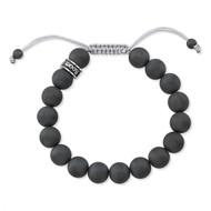 Satin Hematite Shamballa Bead Bracelet